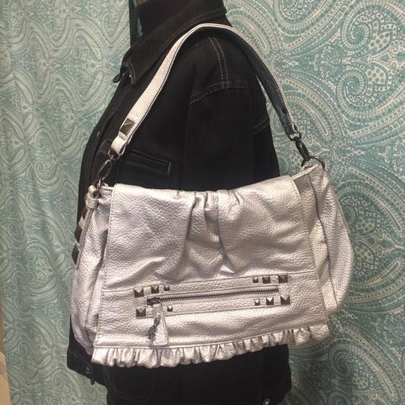 64b8424260c1 Christian Audigier Handbags - NWOT TRENDY SILVER PEBBLED BAG